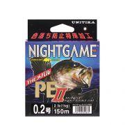 Unitika Night Game PE II 150м 0.128 #0.6 3 кг Yellow